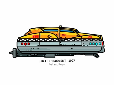 The Fifth Element cars car design dots fast auto automobile outline the fifth element vector icons taxi movie iconic future fift element cab