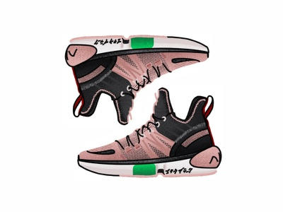 Anta x Dragon Ball Super GOKU Black Super Saiyan   D procreate vector manga style dragonball sneakers goku shoes run nike minimal illustration icon gradient vegeta design brush adidas