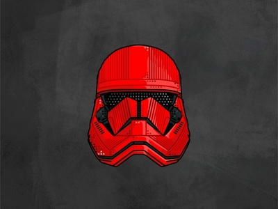Sith Trooper kylo ren boba fett deathtrooper imperial sith space stormtrooper helmet darth vader outline lightsaber star wars jedi illustration graphic design character