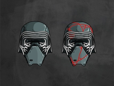 Kylo Ren stormtrooper star wars space sith outline lightsaber kylo ren jedi imperial illustration helmet graphic design deathtrooper darth vader character boba fett
