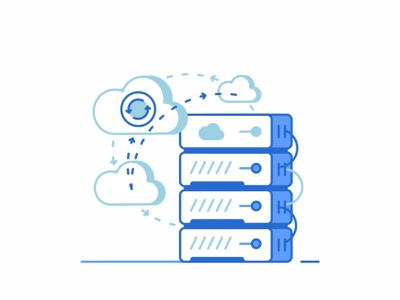 Cloud education cloud hosting programming emails web vps virtual support servers security power networking message line icon set icons design cloud connection chat