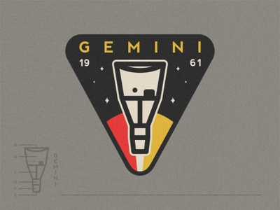 Gemini 🛰️ exploration universe mission logo astronaut launch planets stars rocket satelite apollo gemini viking space shuttle patch nasa mars icon badge