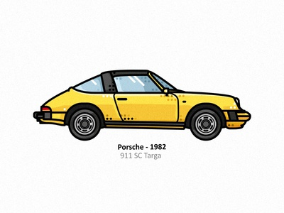Porsche 911a porsche 911 sc targa porsche 911 sc targa vehicle vector steel sports speed retro race outline line type illustrator icon fast dots design car 60s