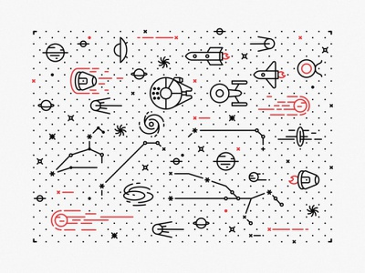 Tattoo Space abstract star outerspace web ui ux stars space system solar sign up rocket planet moon landing page icon set gradient galaxy discover develop cosmos