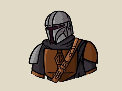 Mandalorian themandalorian stormtrooper star wars starwars warrior movie master illustration icon fanart draw design mandalorian child cartoon boba fett