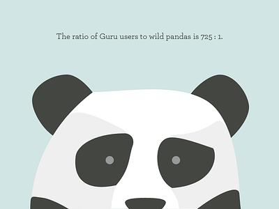 Panda Ratio illustration panda guru bear