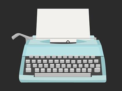 Typewriter illustration guru typewriter