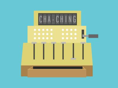 Cha Ching! illustration guru cash register cash