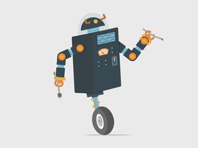 Robot Maintenance Screen robot illustration guru maintenance