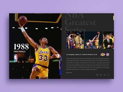 NBA Greatest Series design photoshop finals pistons detroit angeles los lakers layout basketball nba