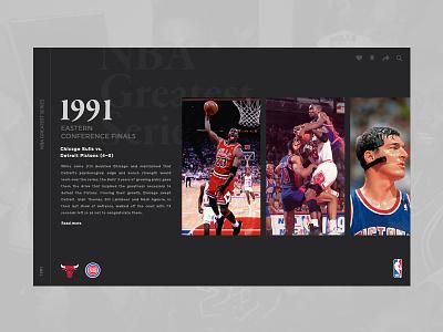 NBA Greatest Series layout ux ui design photoshop playoffs basketball nba