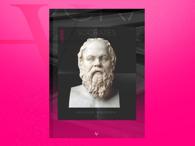 Socrates - Book project pink photoshop cover book philosophy socrates