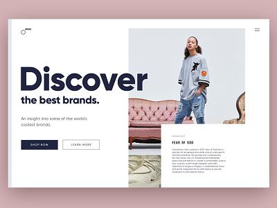 BRND brands fearofgod desktop cool simple fashion ux designer ui website
