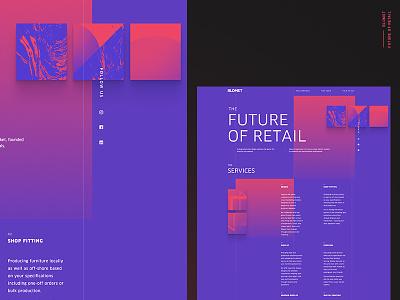 The Future of Retail modern react transitions branding website desktop design