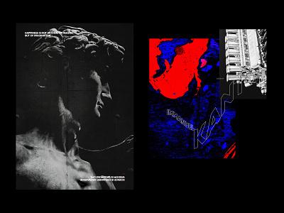 Posters modern visual art illustration collage poster design kant