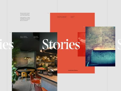 Stories editorial minimal layout design story