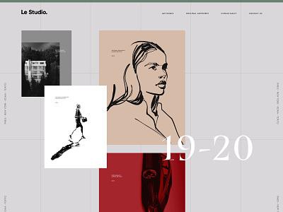 Le Studio. editorial desktop minimal modern layout prints art photography illustration design studio
