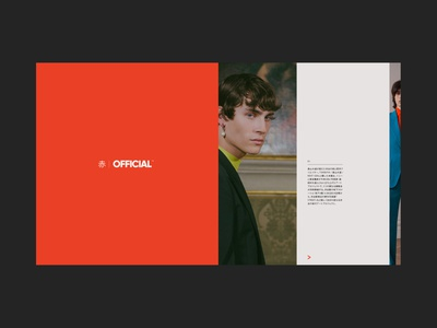 OFFICIAL red collection lookbook design minimal ui layout fashion image carousel editorial