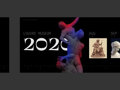 Louvre 2020 minimal design carousel layout program museum louvre