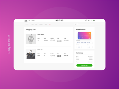 Daily UI - Credit Card Checkout ux ui @daily-ui design app appdesign adobexd