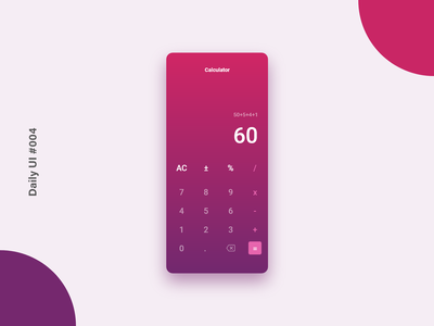 Daily UI #004 - Calculator calculator design calculator ui design inspiration design appdesign ux ui adobexd