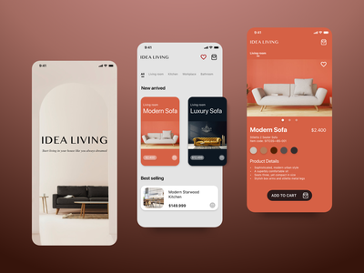 Furniture e-commerce App - Adobe XD logo app appdesign uiux ux ui ios design inspiration furniture store furniture app furniture ecommerce design ecommerce app ecommerce adobexd