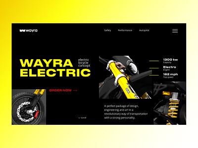 First screen for presentation of motorcycle tilda figma web ux ui typography design landing page webdesign moto