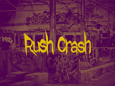 Logo for Rush Crash (CSGO) rate 1x play csgo logo webdesign design typography figma