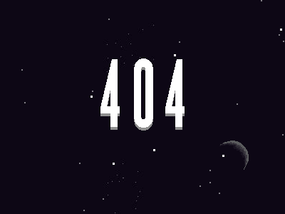 Earth 404 page space pixels