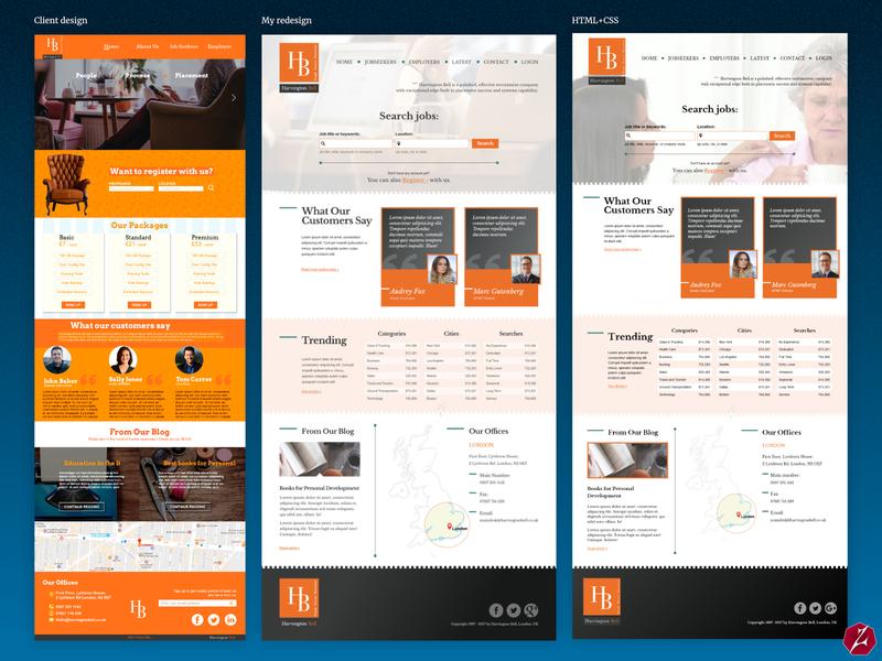 Harvington Bell website redesign website redesign recruitment agency redesign