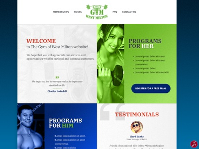 The Gym of West Milton (Ohio) sports website design gym logo gym