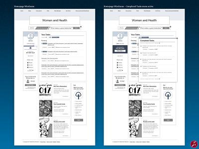 MarketVision Communities market research wireframes marketing homepage forums marketvision communities design web design