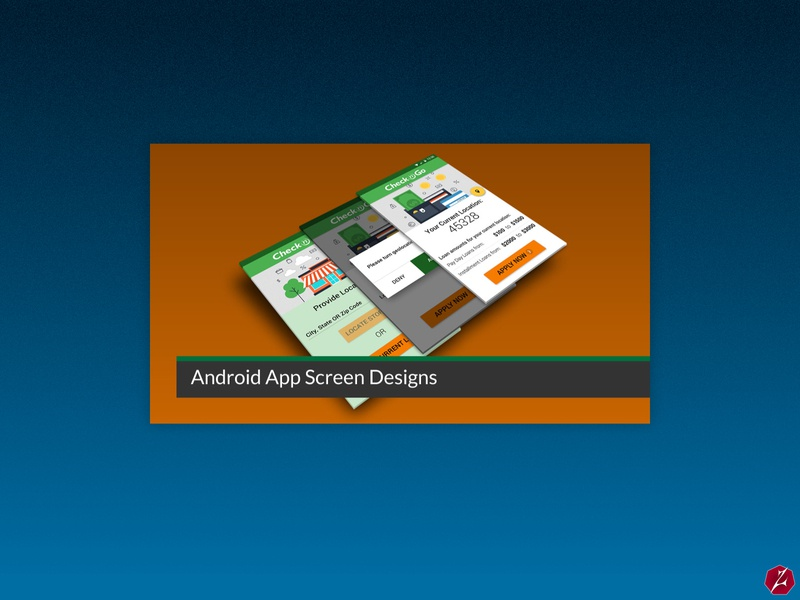 Check n' Go Android App and Slider Designs financial app user flows sliders finance