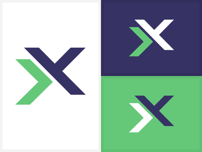 """""""XX"""" Isotype/Symbol for logo x logo green blue purple x x abstraction"""