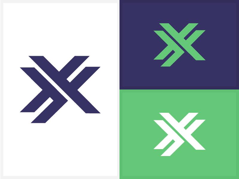 """XX"" Isotype/Symbol for logo by Ricardo Zea on Dribbble"