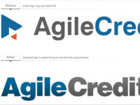Agile Credit Logo - Before And After
