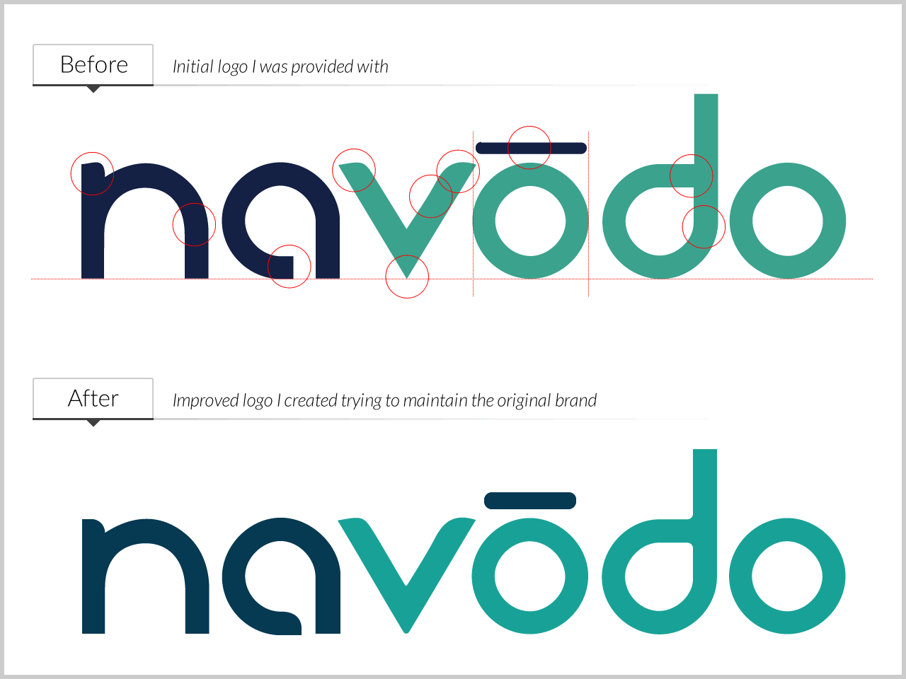 Dribble   navodo logo   before and after