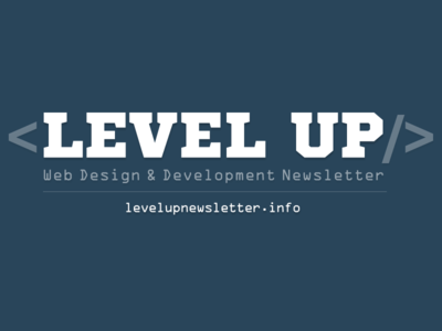 Logo Level Up! Newsletter web development web design level up newsletter