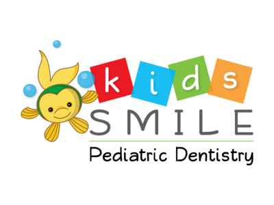 Logo Kids Smile Pediatric Dentistry kids smile fish colorful logo dentist pediatric