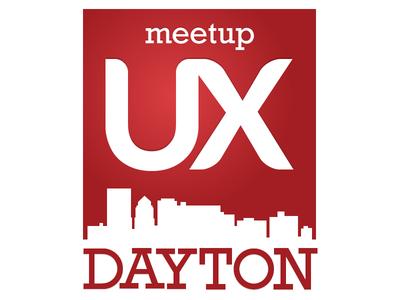 UX Dayton Meetup Logo meetup ux ux logo red dayton