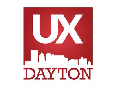 UX Dayton Meetup Logo - Rebound logo red dayton ux
