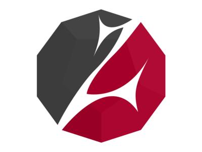 Z v2 decagon decahedron geometric logo letter z z