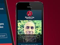 Redesigned portfolio site: ricardozea.design