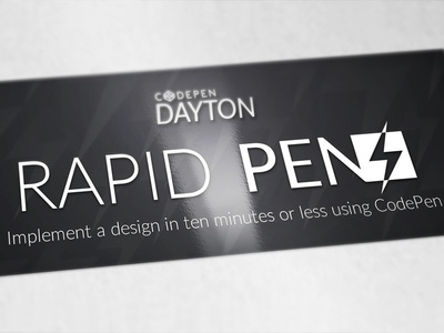 Codepen Dayton: Rapid Pens lightning codepen