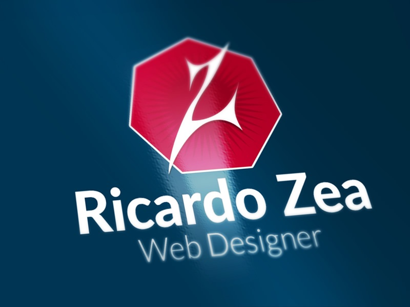 Personal Logo web design red and blue letter z z ricardo zea