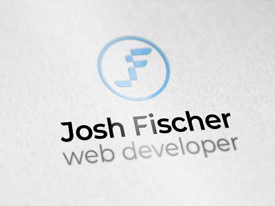 Josh Fischer web developer - Logo logo jf web developer blue