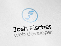 Josh Fischer web developer - Logo logo jf web developer blue