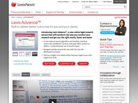 Lexis Advance Product Page Design - 2012