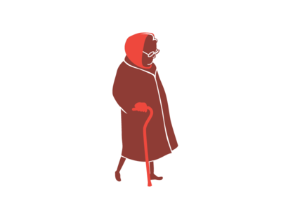 Abuelita people illustration