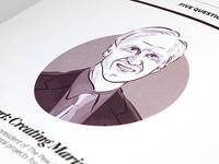 Magazine illustration - headshot